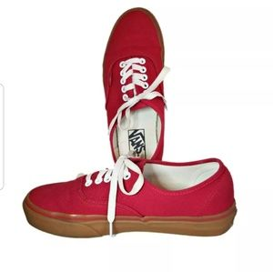 Vans Classic Blood Red w/ Gum Soles Mens 7 Wmn 8.5